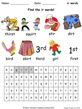 Ir Phonics Lesson Plans Worksheets And Other Teaching