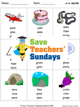 A E Phonics Lesson Plans Worksheets And Other Teaching