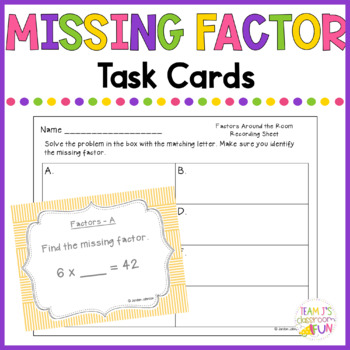 Find the Missing Factors - Around the Room