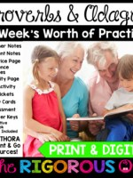 Proverbs & Adages Week Long Lessons Common Core Aligned