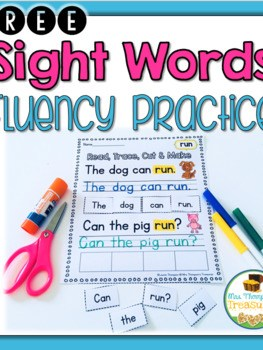 FREE Sight Words Sentence Practice