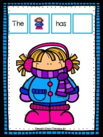 The Girl Has... Winter Clothing Activity for speech therapy