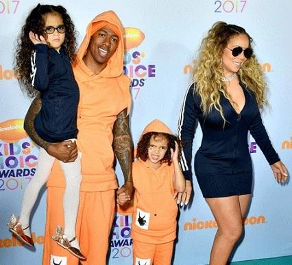 Mariah Carey and Nick Cannon on Kids Choice Awards