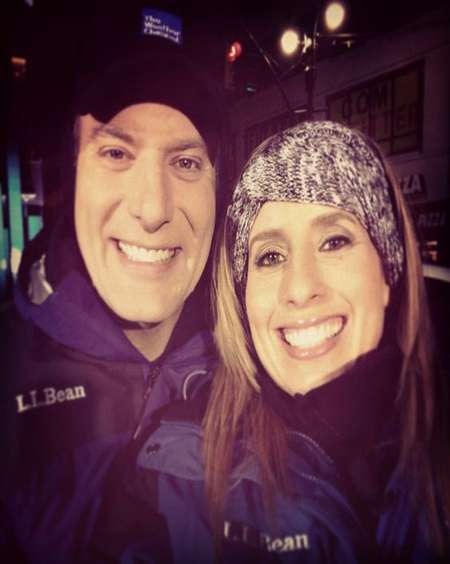 Stephanie Abrams with Her Ex-husband Mike Bettes