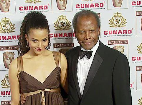 Sydney with her father, Sir Sidney Poitier