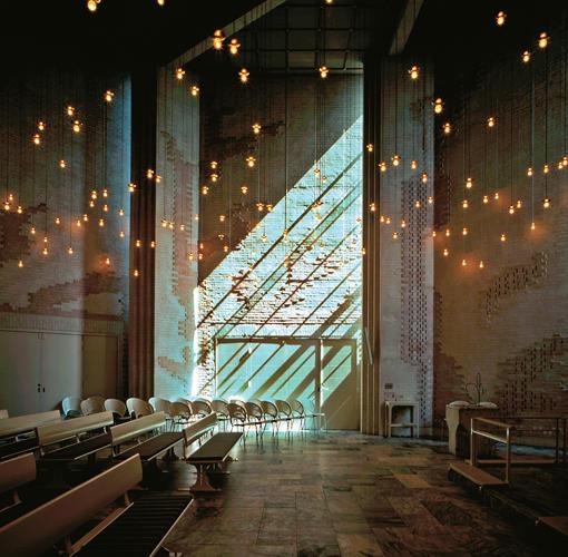 Opstandelses Church, Albertslund, Denmark, 1984, by Inger and Johannes Exner.