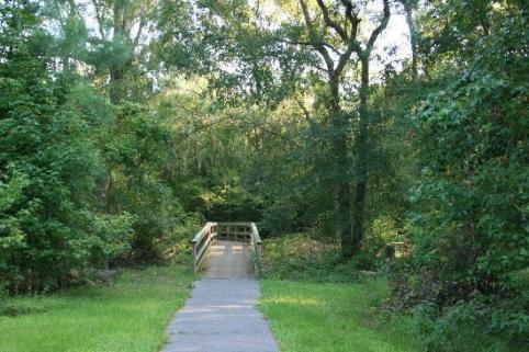 A photo of a trail at Camp Milton Historic Preserve