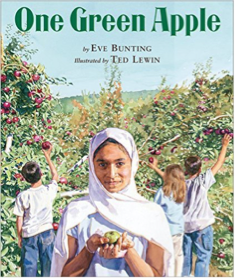 One Green Apple by Eve Bunting, Illustrated by Ted Lewin
