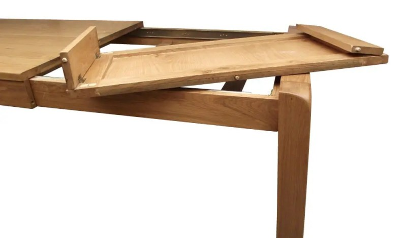 Image of oak table leaf storage in the Avon range