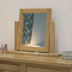 bury solid oak dressing table mirror. on swing stand. matches most of our ranges