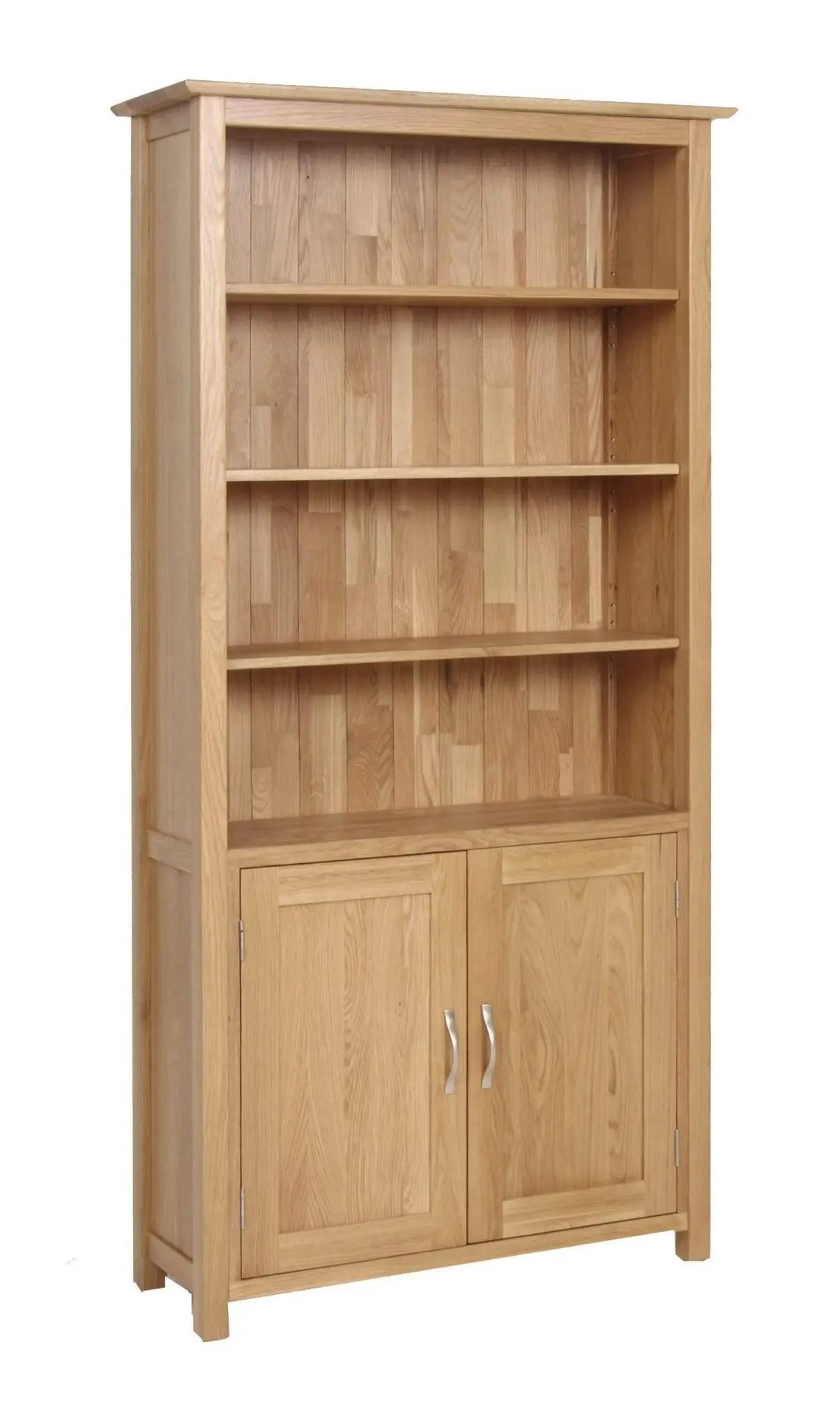Norwich Oak Bookcase With Cupboard