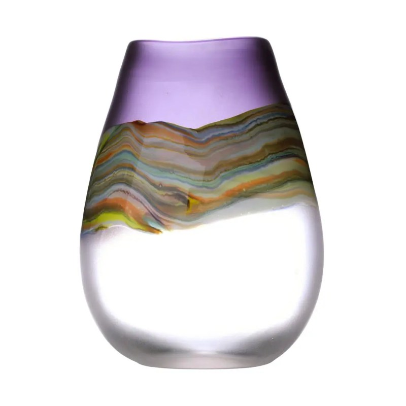 Voyage Maison Lucius Tall Vase - Amethyst, a rainbow of colours on a hand blown vase VG15059