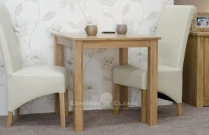 Bury oak dining table - non extendable 2'6 x 2'6 perfect for small spaces. sits 2 comfortably,square shaker style legs