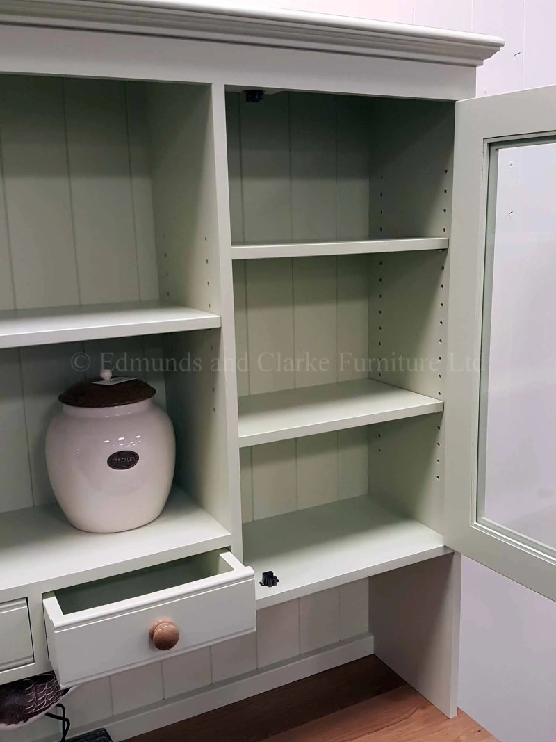 6ft Kitchen dresser painted all over with solid oak top