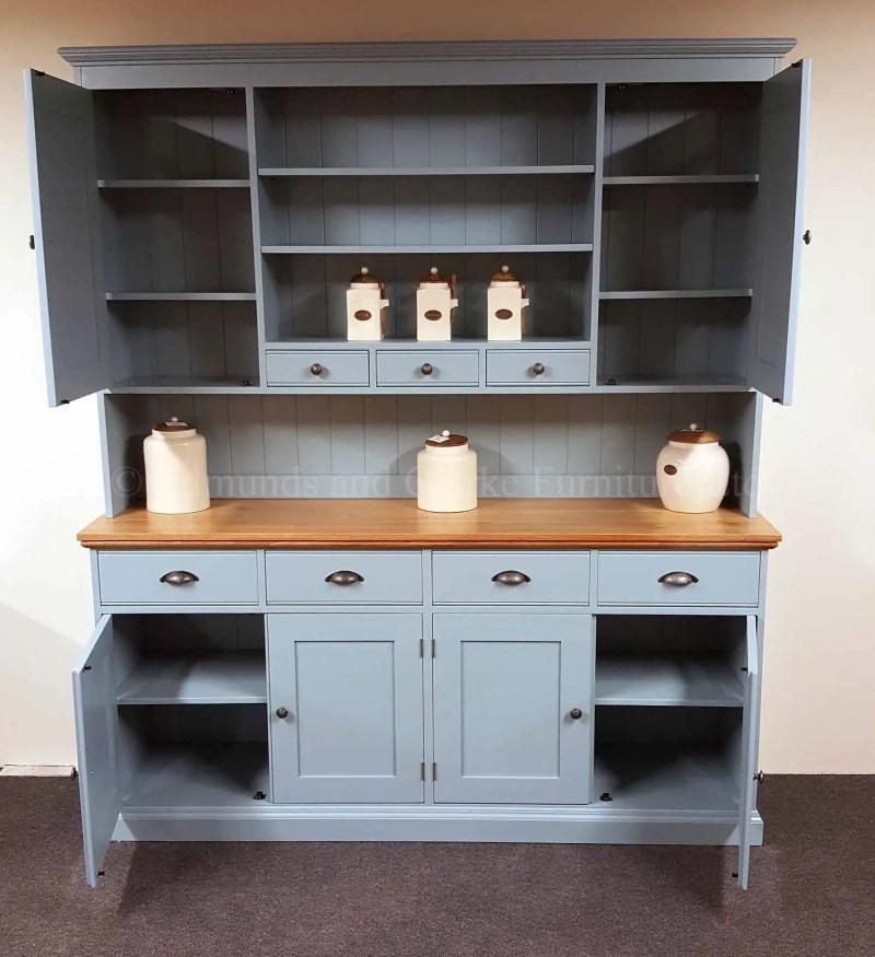 Edmunds plain kitchen dresser with paneled doors 6ft wide
