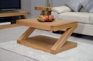 Z designer 3' x 2' solid oak coffee table