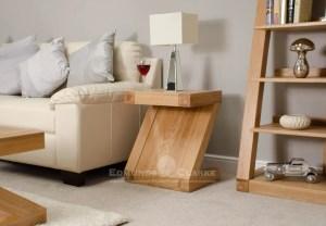 Z designer solid oak Z style lamp table ZLT