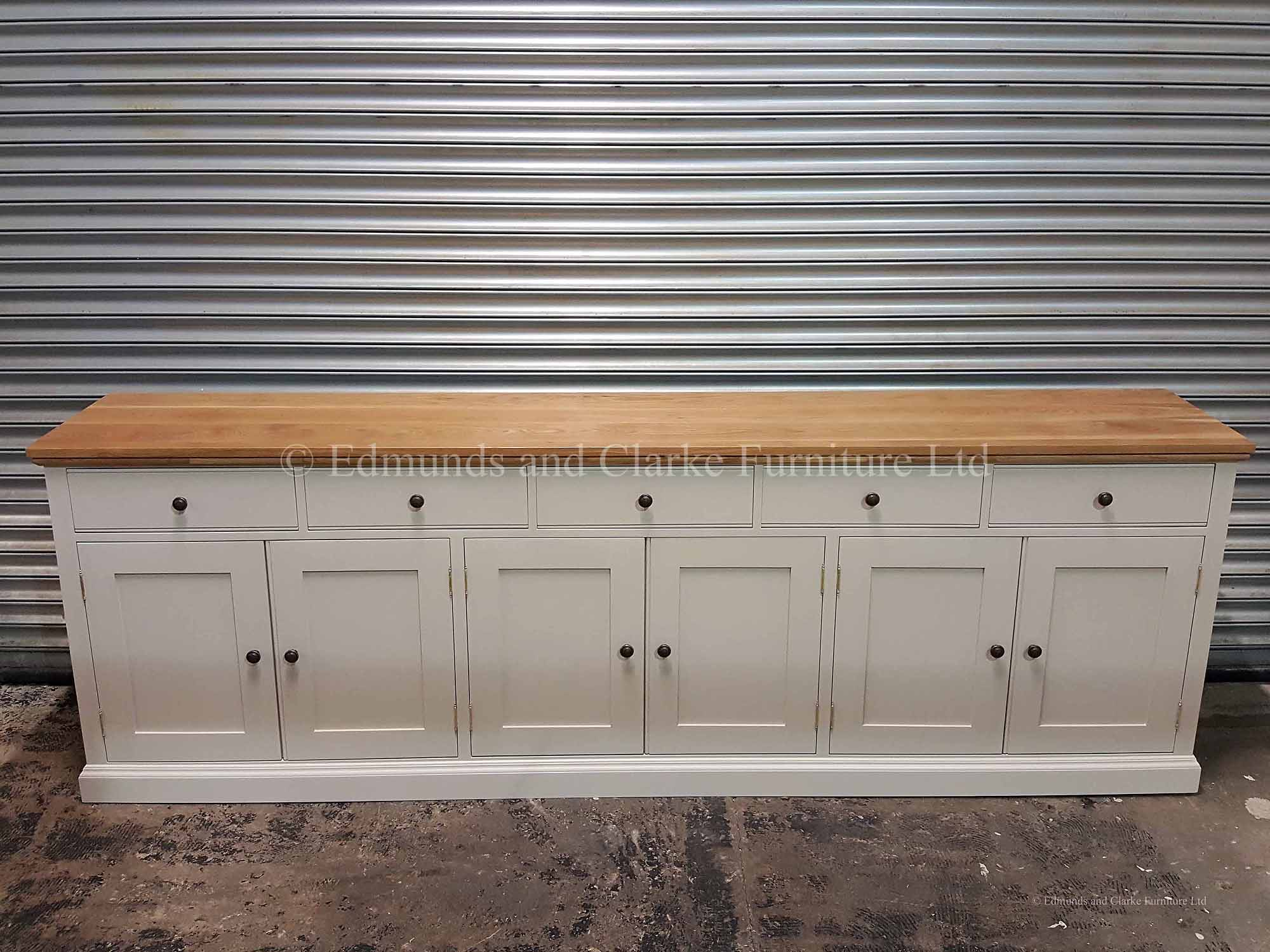 Edmunds Painted 9ft Sideboard | Edmunds & Clarke Furniture Ltd