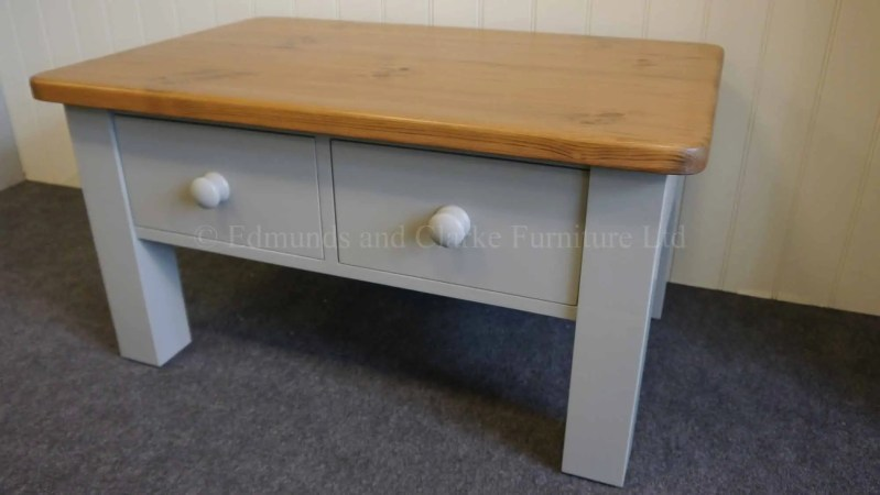 Edmunds square leg coffee table painted with choice of tops