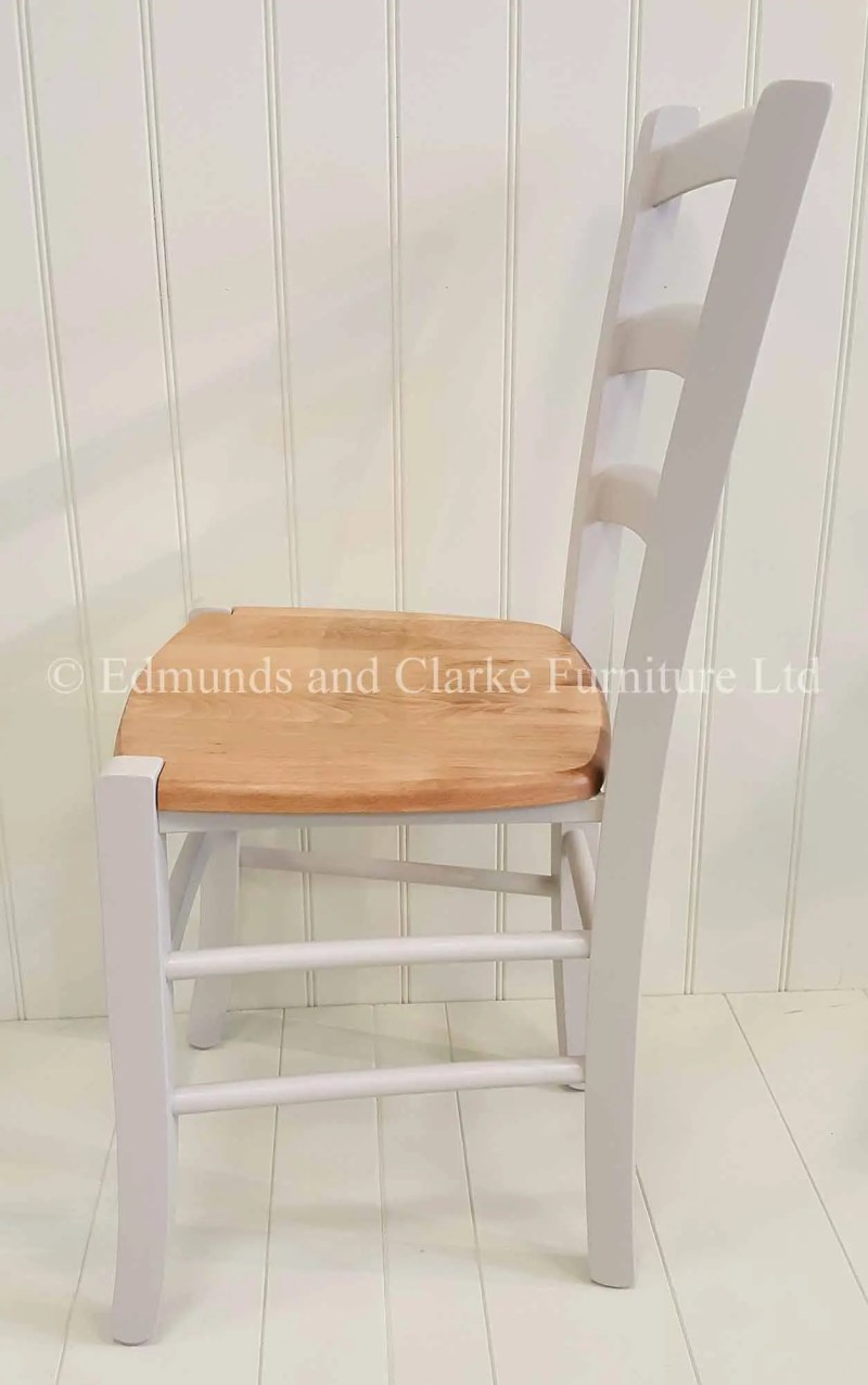 Liege dining chair painted with solid waxede seat