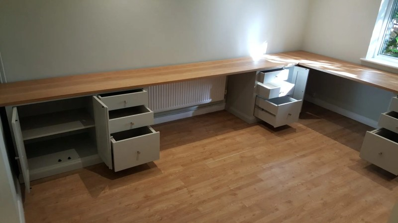 Bespoke desk made to measure painted
