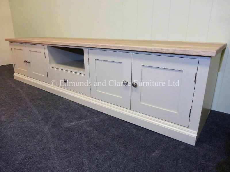 Bespoke painted television entertainment stand Long