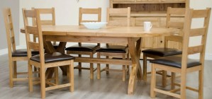 Melford cross leg oval extending table with two leaves