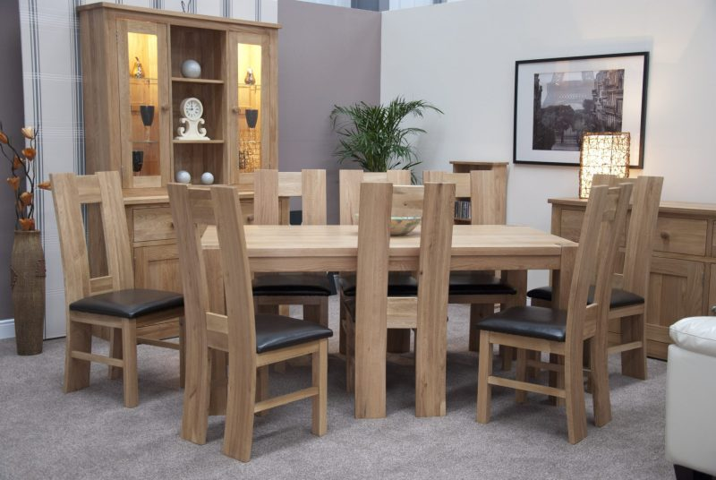 Newmarket square edge dining table