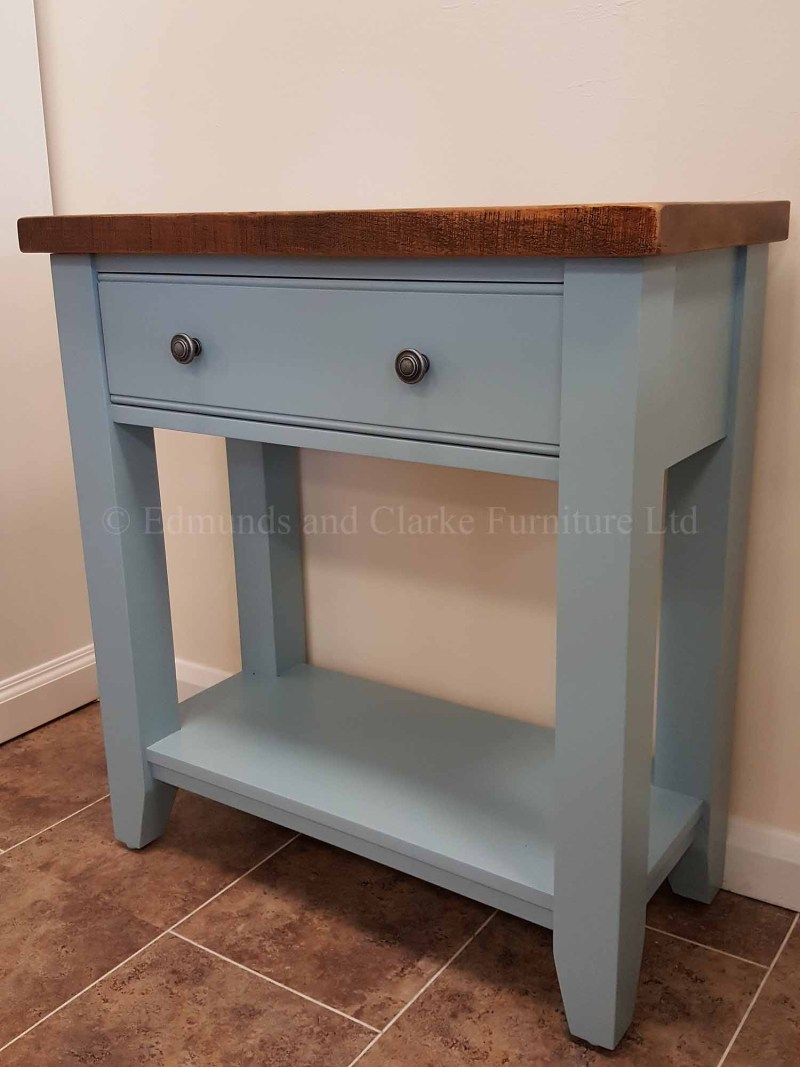Edmunds painted console table with single drawer and shelf below