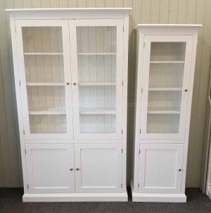 Edmunds Painted Glazed Panelled Bookcases. lots of options and paint colours. toughned glass