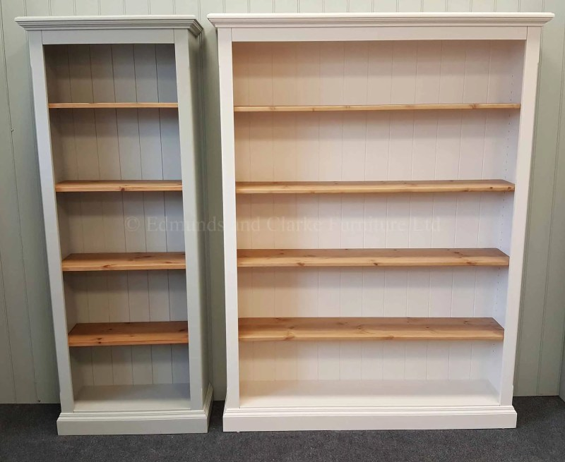 Edmunds Painted Standard Depth Bookcases. many widths and heights available, pine or painted shelves available only at edmunds clarke bury st edmunds