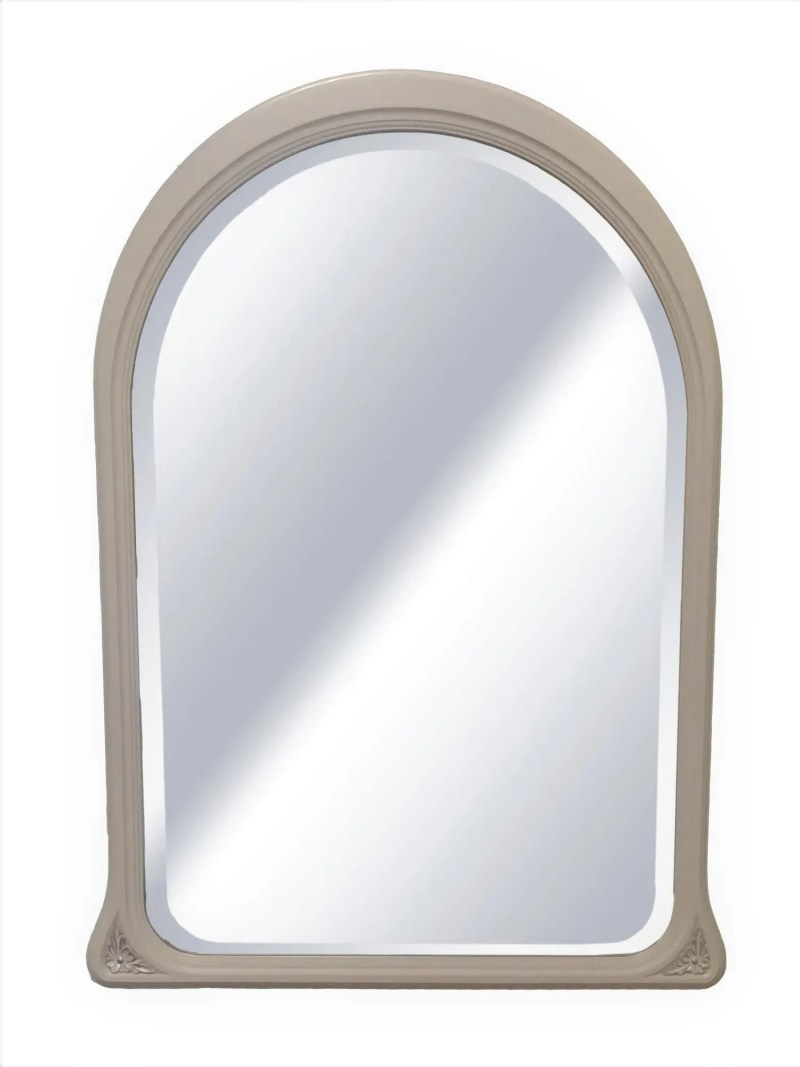 painted arched wall mirror, large wall mirror or over mantle, 9 colours available