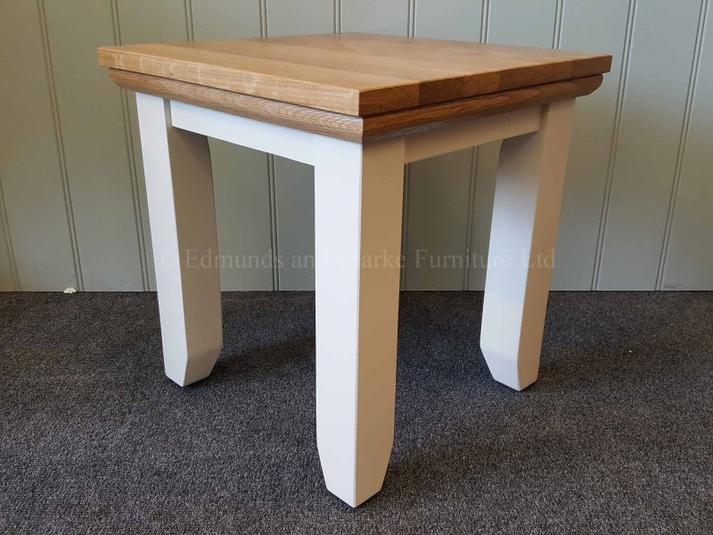 Nest of tables, small table pictured painted with solid oak top