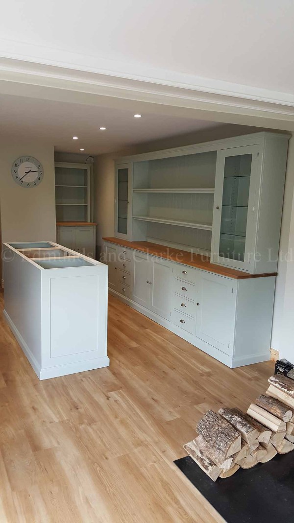 Kitchen dresser and island unit made to measure