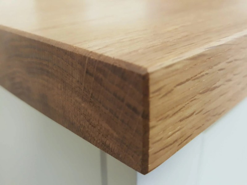 30mm thick oak top example for sideboards, kitchen dressers