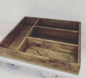 Country Kitchen style cutlery tray wooden