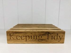 Keeping tidy oak letter rack