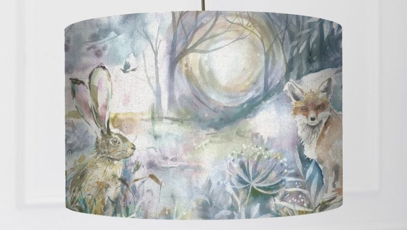 Voyage maison fox and hare lamp shade