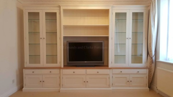 Bespoke painted breakfront television cabinet
