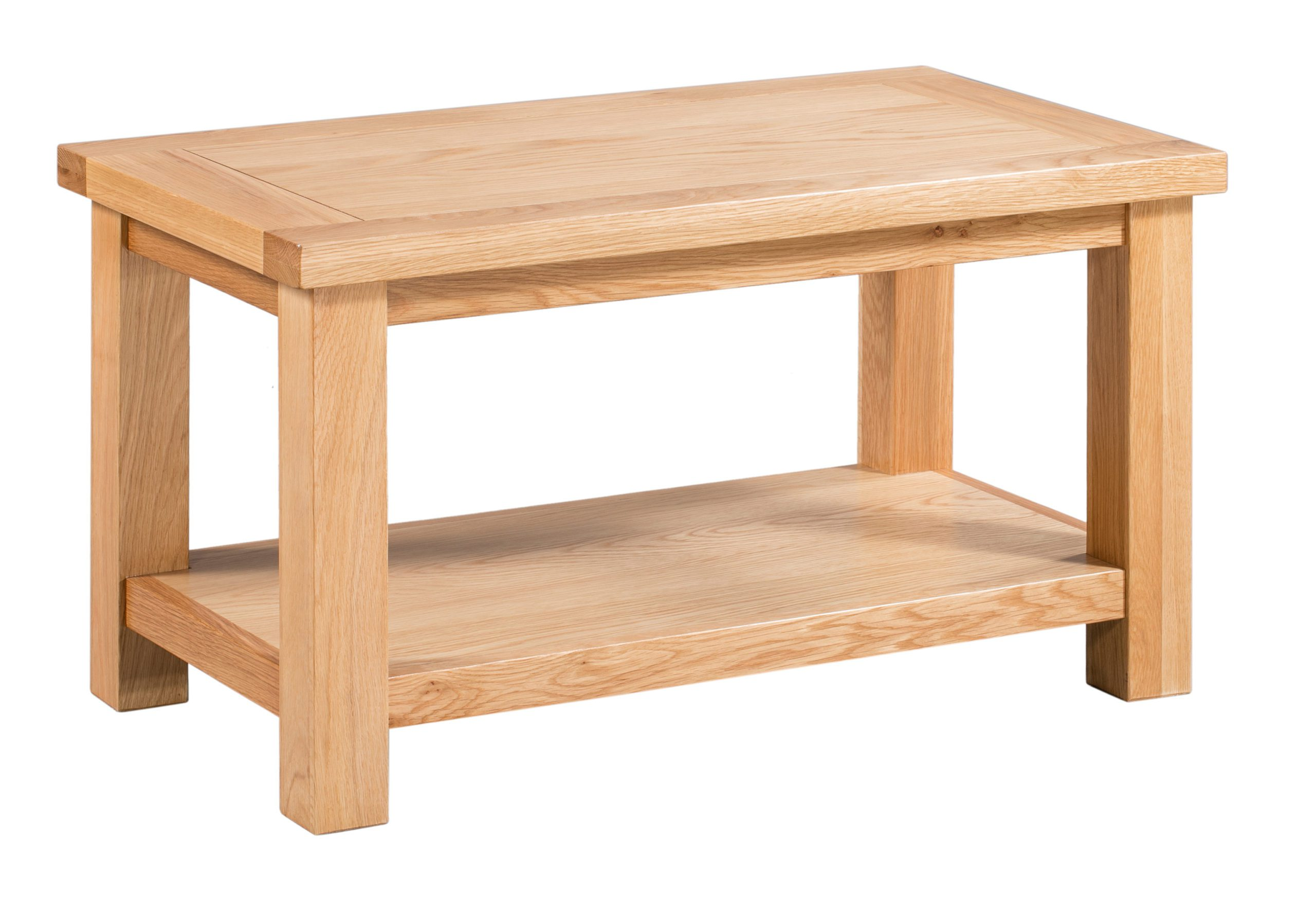 dorset oak small coffee table with shelf edmunds and clarke furniture