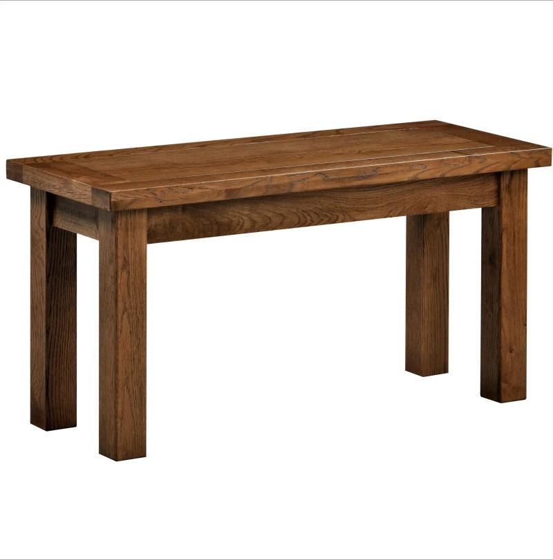 DOR090R Dorset rustic oak 90cm bench