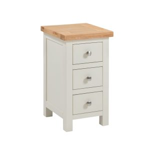 Dorset painted Compact 3 drawer bedside