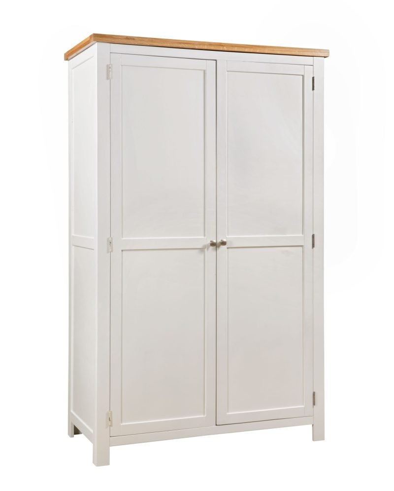 dorset painted double all hanging wardrobe