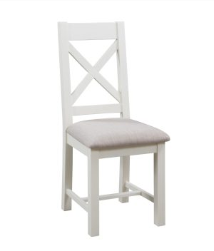 Dorset Painted Cross Back Chairs with fabric seat DPT150