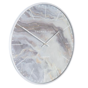 "AMC28002 thomas kent 26"" oyster wall clock -glacier"