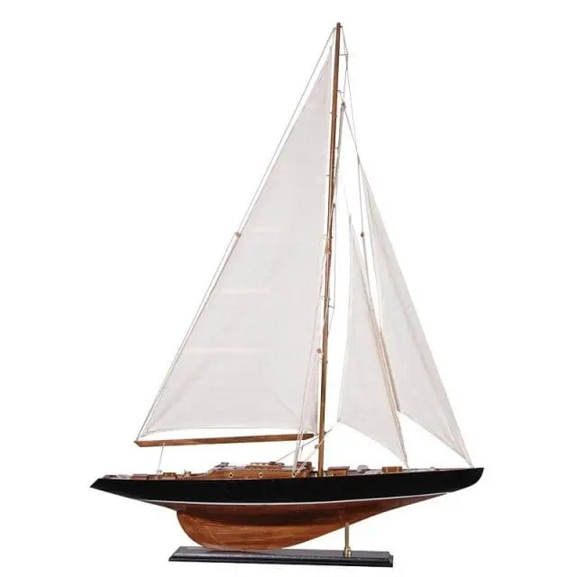 White sails yacht for the home