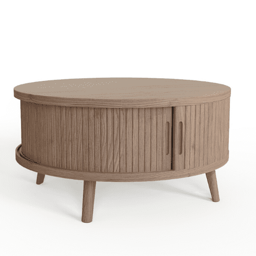 Tambour coffee table