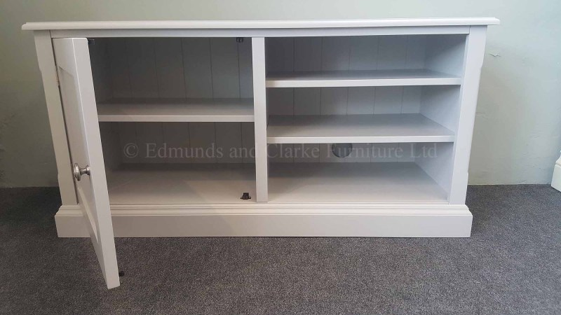Painted grey Television entertainment stand