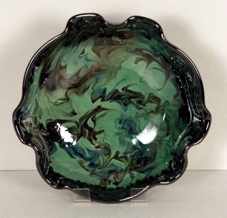 Green splashy bowl