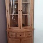 Oak Glazed Corner Hutch Edmunds And Clarke Furniture